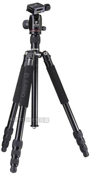 呈現攝影-Jusino JK-422+BT-02(黑) 四節反摺鋁合金腳架+雲台 低角度 高155低22 GF1 公司貨