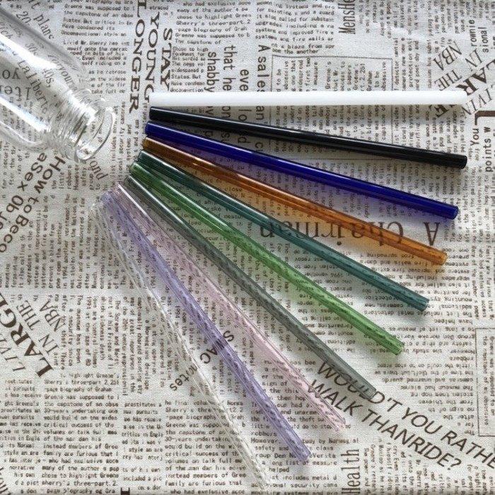 一起愛地球😘多色玻璃吸管 環保吸管 彩色吸管 梅森杯吸管😘任購3支吸管即贈清潔刷