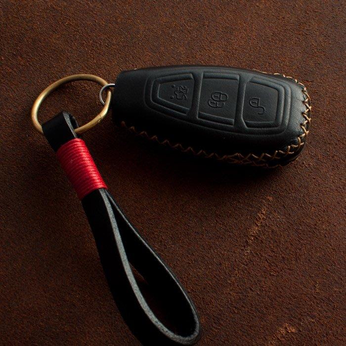 手工製作 FORD 福特 Focus Fiesta Mondeo 汽車 鑰匙 皮套 KUGA 鑰匙包 真皮 折疊/智慧