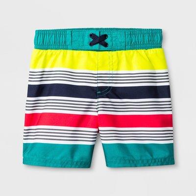 🇺🇸美國進口・知名百貨品牌・男孩 海灘褲泳褲~高係數防曬 抗UV  [ 撞色條紋 ](2~5歲)