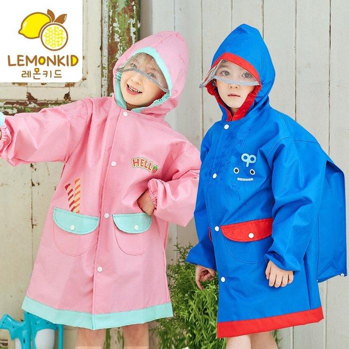 【Kathie Shop】韓國品牌新款加厚牛津布兒童雨衣男女童環保含書包位雨披雨衣