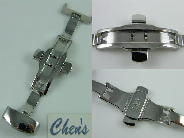 錶帶屋  配件 10mm-24mm高品質不鏽鋼雙折/彈壓式/蝴蝶摺疊錶扣各廠如艾美,積家,IWC,沛納海