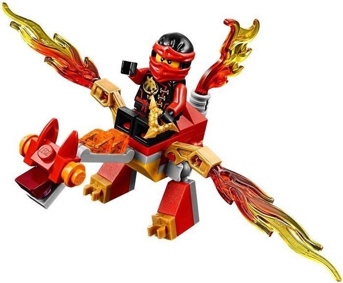 現貨【LEGO 樂高 】100% 全新正品 益智玩具 積木/ 旋風忍者系列: 赤地忍者的迷你飛龍 Kai 袋裝