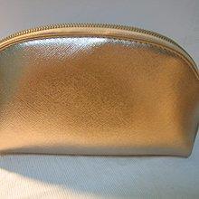 優雅 多層收納 雙拉鍊玫瑰金化妝包 收納包     New golden double z