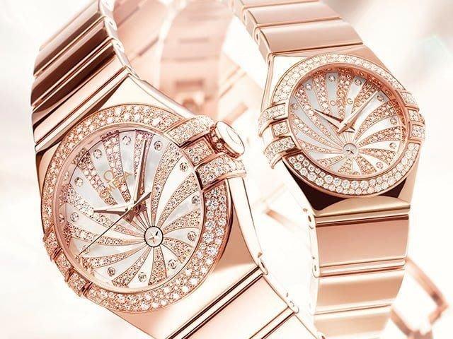 OMEGA 18K星座鑽錶