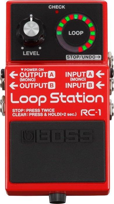 【六絃樂器】全新 Boss RC-1 RC1 Loop Station 樂句循環工作站 電吉他效果器 / 現貨特價