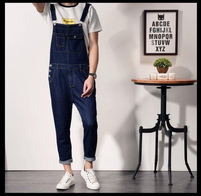 原色牛仔 藍色吊帶牛仔褲 連身工作褲 男女牛仔吊帶褲 *OLDNICK老尼克*06302018-11