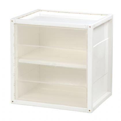 樹德收納系列 KD~2936A 附門悠活置物箱 巧拼收納箱  雪白、透明兩色    櫃
