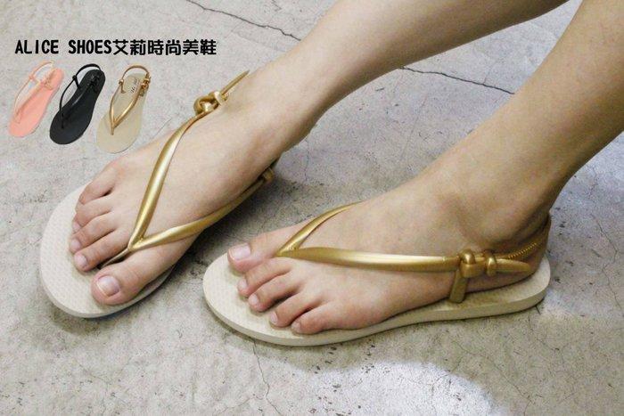 ALICE SHOES艾莉易購網 請把握!!搶鮮擁有精緻平底海綿人字涼鞋@9028@夾腳海灘拖鞋MIT台灣製造