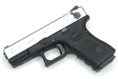 銀色 WE G23 A版 單連發版瓦斯槍 金屬滑套+金屬槍管