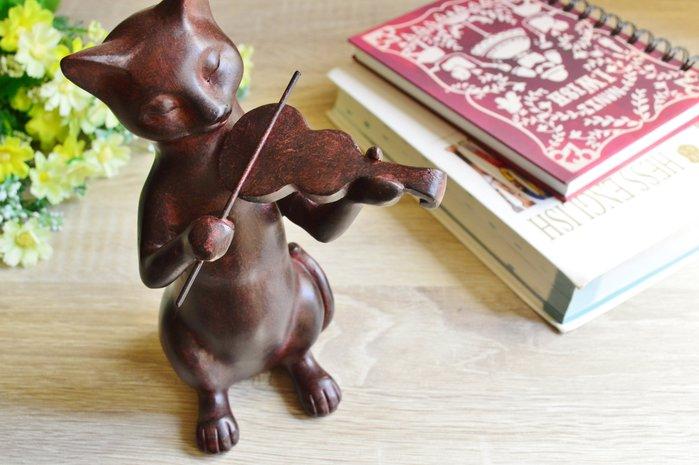 全館八折 滿2仟七折 ☆日本帶回 拉小提琴の貓 小物 飾品 家飾 擺飾☆Ling 日本雜鋪