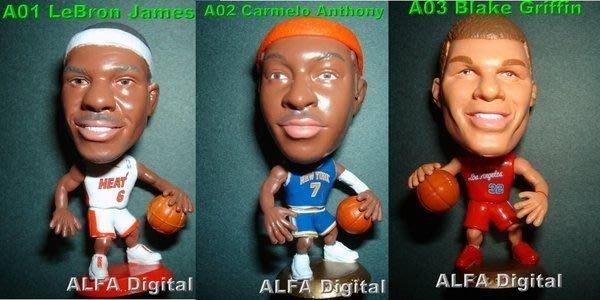 nba球衣最佳搭配!最新2013年NBA公仔!高約6.5公分3種可選!LeBron James/Carmelo Anthony/Blake Griffin