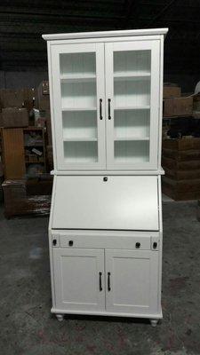 美生活館---客訂商品---鄉村全原木 全白 書桌書櫃兩用功能櫃/收納櫃/置物櫃 ---可依尺寸與顏色再報價