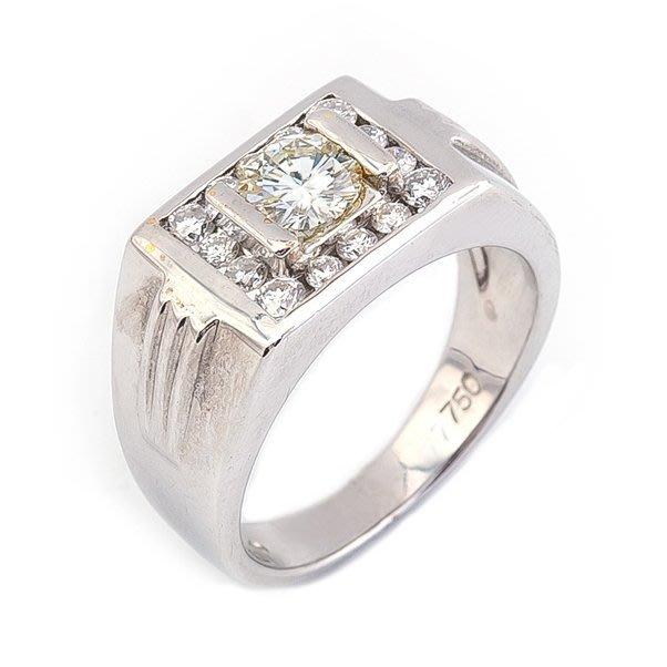 【JHT 金宏總珠寶/GIA鑽石專賣】0.53ct天然鑽石戒指/材質:18K(D000060)