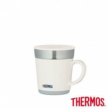 膳魔師不銹鋼真空保溫杯 白色 JDC-351-WH  ,把手咖啡杯,隔熱杯 INSULATED MUG , 有杯蓋
