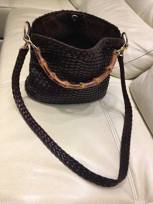 Gucci 竹节牛皮编织包(已售出)