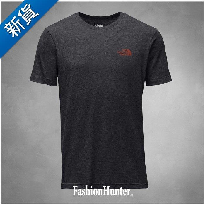 新貨【FH.cc】The North Face 短袖T恤 趣味諺語:「滿腦子只想著爬山」修身版 深灰 TNF