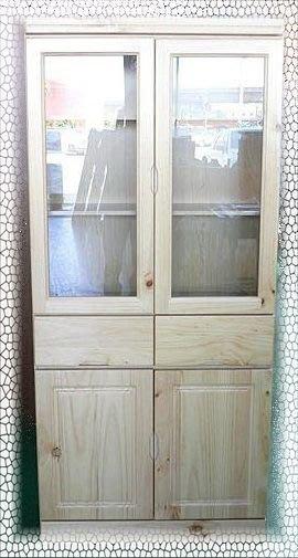 樂居二手家具 BN-B01*庫存松木書櫃 半實木書架 玻璃展示櫃*便宜家二手家具賣場 租屋套房可大量訂購