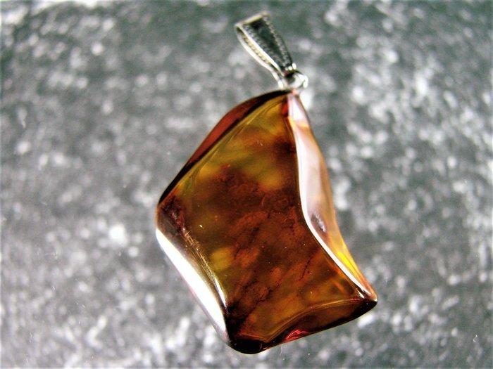 ~·. 釋出.·~保真 波羅的海 珠寶等級~ 純天然琥珀 吊墜~D67b玩古金銀