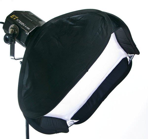 呈現攝影-專業折疊式無影罩50cm X 50cm 外接閃光燈專用無影罩,含外接閃光燈架/傘座