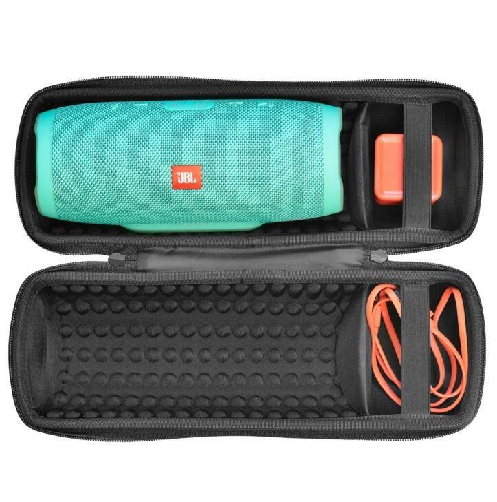 JBL charge3便攜音響收納包 音箱便攜保護套 尼龍包 防震 保護殼 黑色 #4177