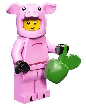 現貨【LEGO 樂高】積木/ Minifigures人偶系列:12代人偶包抽抽樂 71007 | 小豬人Pig Guy