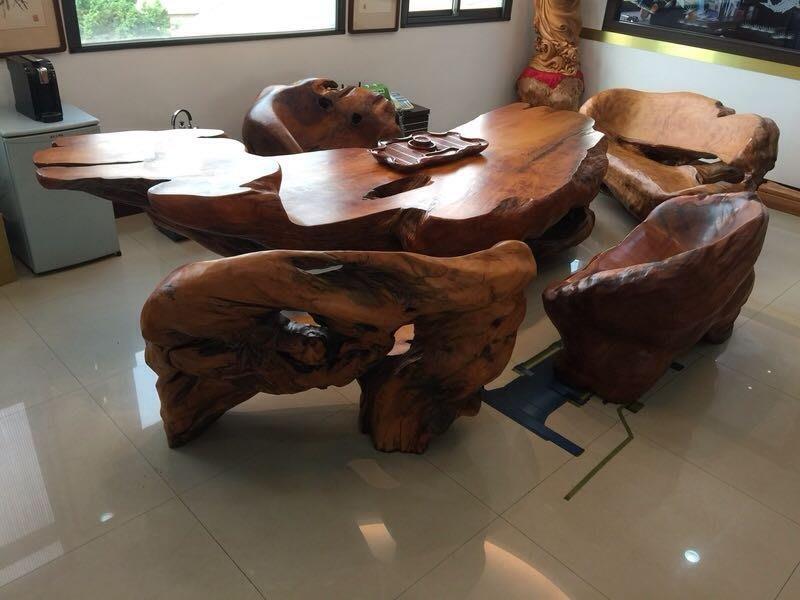 台灣檜木 檜木桌 原木桌 一體成形 長350公分