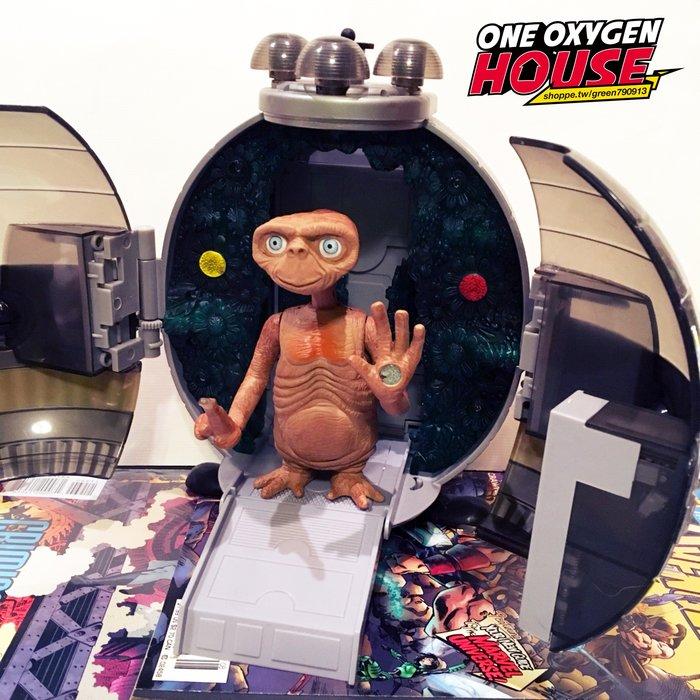 美國 絕版 E.T 2001年 外星人 ET 盒裝 太空艙 飛行器 太空船 古董玩具 公仔 電影 玩具