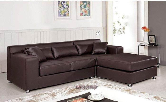 【DH】商品貨號G716-2商品名稱《可利安》L型皮面造型沙發組(圖一)備有黑色/另計。時尚細膩經典。主要地區免運費