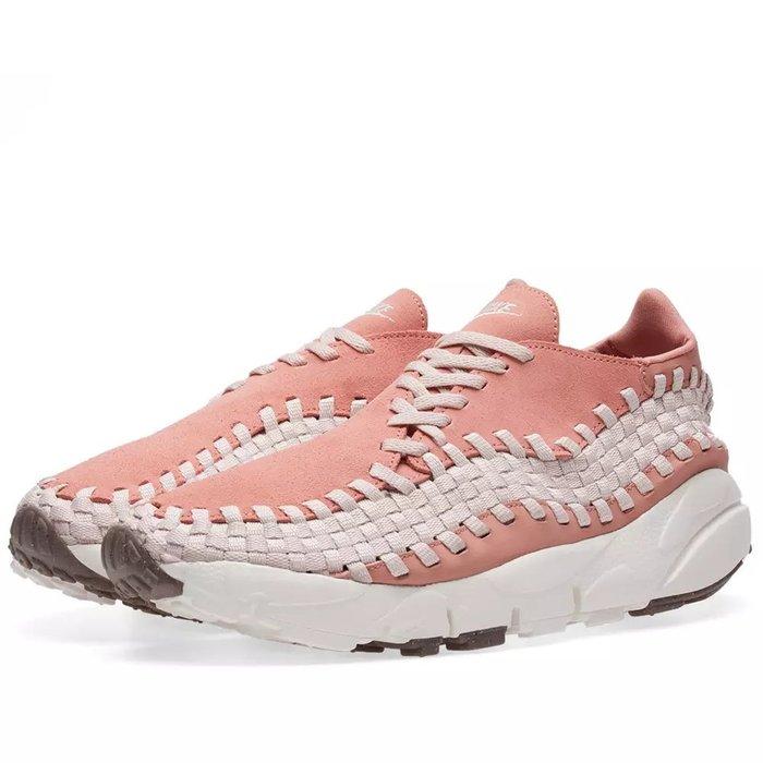 =CodE= NIKE W AIR FOOTSCAPE WOVEN 麂皮編織慢跑鞋(粉紅白) 917698-600 預購