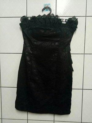(愛莎&嵐) Shaly Show 紗之秀 黑色印花平口小禮服 1070816