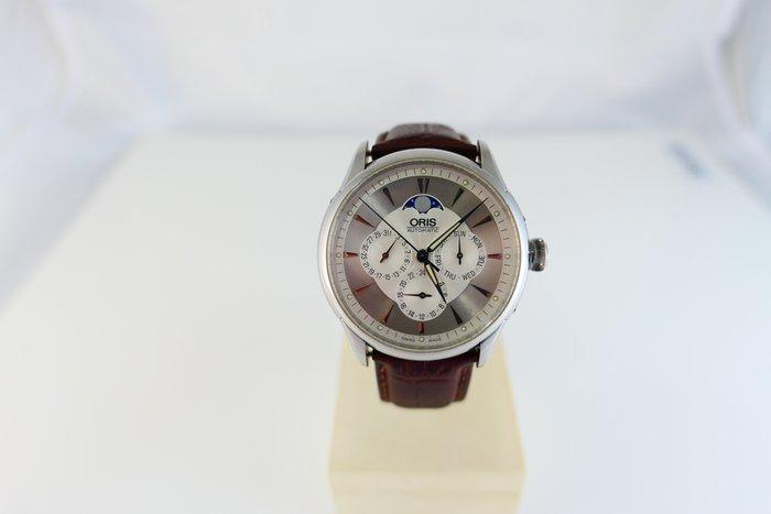 [吉宏精品交流中心]ORIS 豪利時 藝術家 月相 自動機械 皮帶 男錶(1)