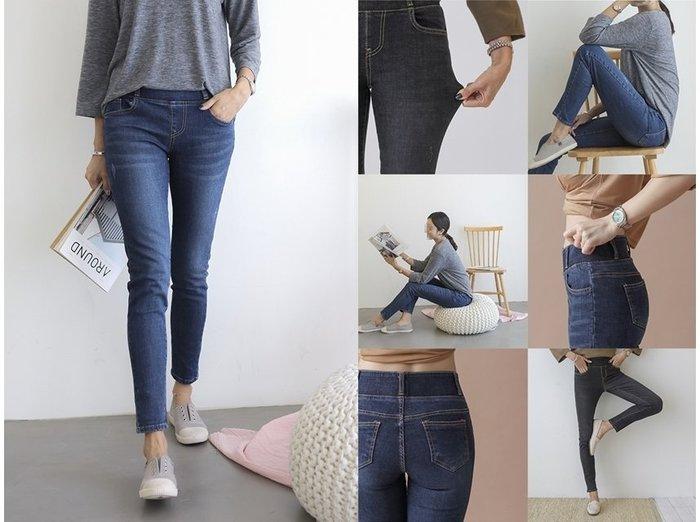 MAIGO ♥ 韓國 Korea 收腹顯瘦彈性內搭牛仔褲 新色天藍/灰/深藍/黑/淺藍 #代購