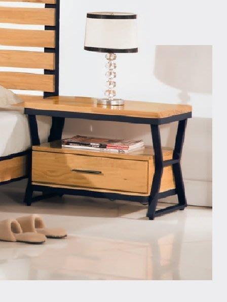 【DH】商品貨號V27-2商品名稱名實工業風全實木2尺床頭櫃 (圖一)台灣製/細膩優質經典。主要地區免運費