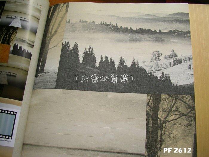【大台北裝潢】PF進口現貨壁紙* 山水河畔自然景色切割版塊(2色) 每支750元