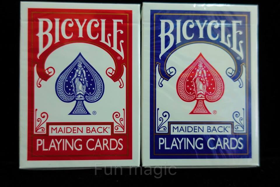 曼陀鈴記號牌 曼陀鈴單車牌 單車記號牌 MAIDEN BACK PLAYING CARDS 曼陀鈴撲克牌