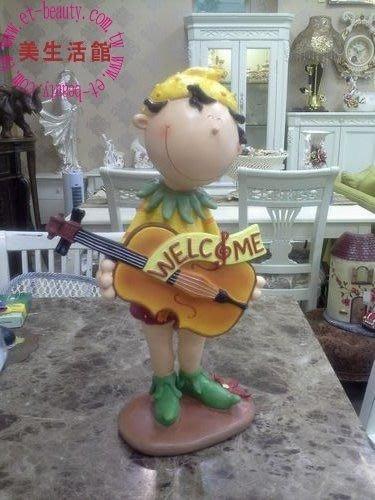 OUTLET限量低價出清美生活館--- 全新 微笑花仙子 提琴男孩 高50 cm 音樂 入厝 禮物 擺飾 裝飾 店面佈置