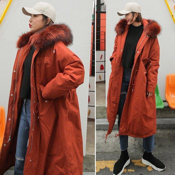 【  EDTG   】XS~XL 新色鐵銹紅禦寒羽絨棉工裝軍裝柔軟真毛領羽絨抗寒外套預定男女可穿兩色