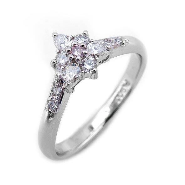 【JHT 金宏總珠寶/GIA鑽石專賣】0.35ct天然拚鑽造型戒指/材質:PT900(JB21-A1)