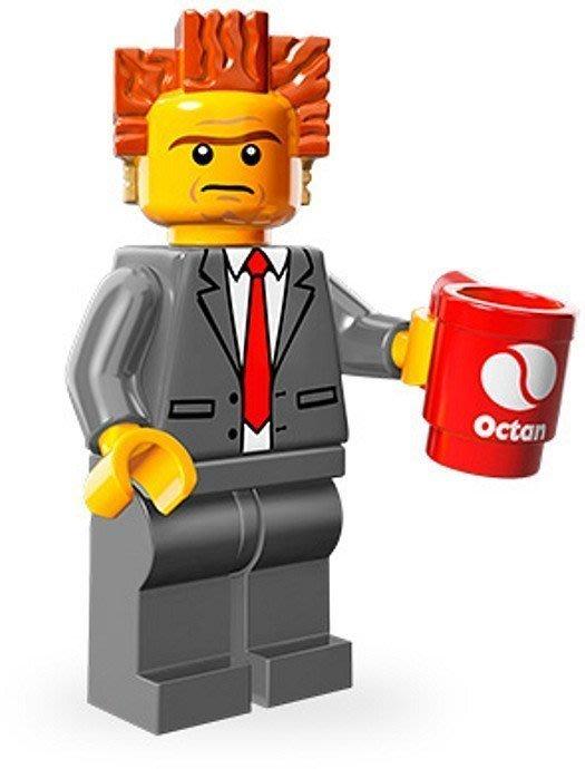 絕版品【LEGO 樂高】玩具 積木/ Minifigures人偶包系列: 玩電影 71004 單一人偶: 總裁 黑心商人