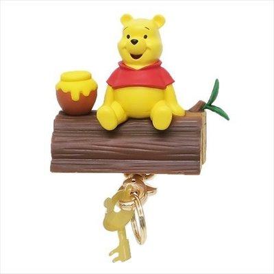 尼德斯Nydus 日本正版 迪士尼 小熊維尼 Winnie Pooh 鑰匙圈 鑰匙盒 磁吸式 磁鐵