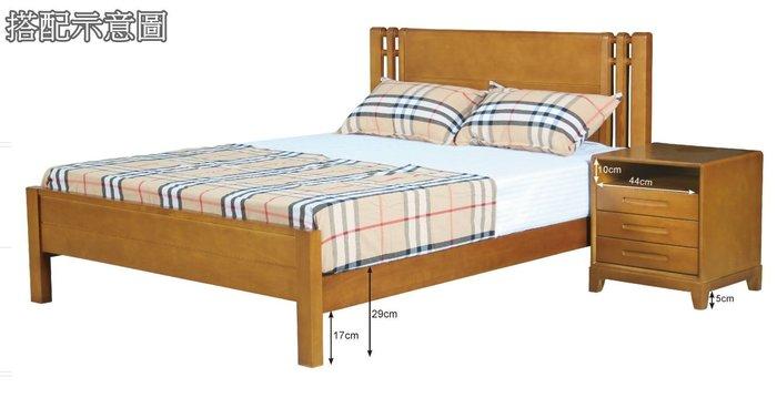 【DH】貨號N089-3名稱《斯伯》5尺全實木床台(圖一)實木床底.不含床頭櫃.台灣製.備有6尺可選