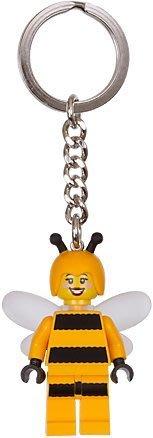 【LEGO 樂高】全新美國正品 積木 鑰匙圈/  超夯10代人偶71001 蜜蜂女孩 Bumble Bee 853572