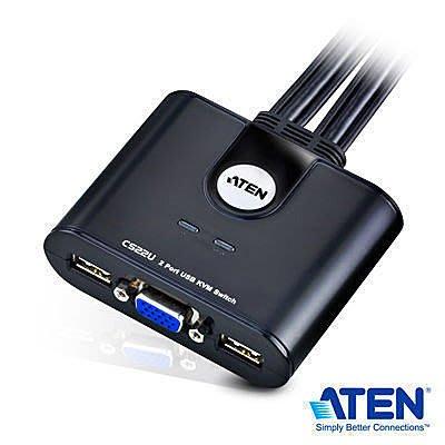 ~協明~ ATEN 宏正 CS22U KVM 2埠 2PORT 帶線式USB KVM多電腦切換器