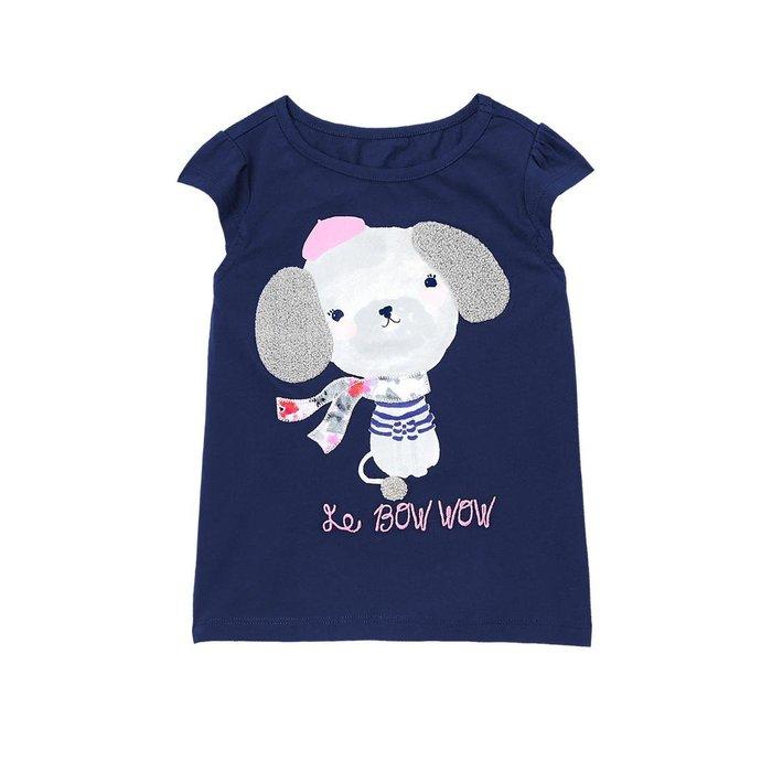 妙寶貝♡Gymboree 深黑藍巴黎小狗短袖T恤(2T/3T/4T/5T),另Carter、Oshkosh、Crazy8