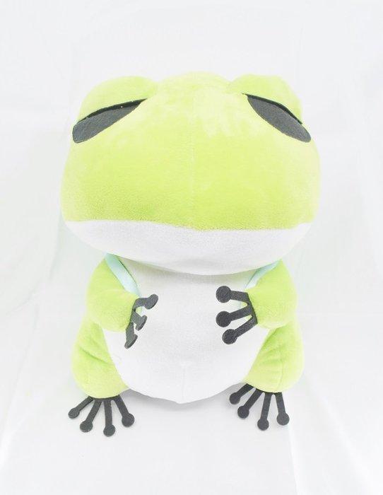 X射線【C345609】12吋優遊青蛙,絨毛/填充玩偶/玩具/公仔/抱枕/靠枕/娃娃