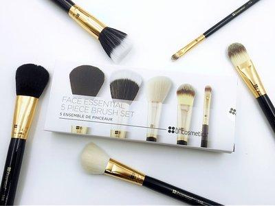 【愛來客 】美國BH Cosmetics Face Essential 5支臉部化妝刷刷具組