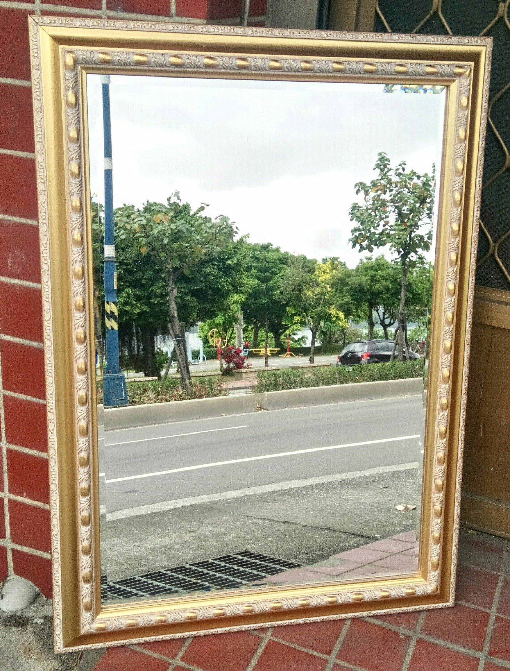 新古典巴洛克金箔框鏡子