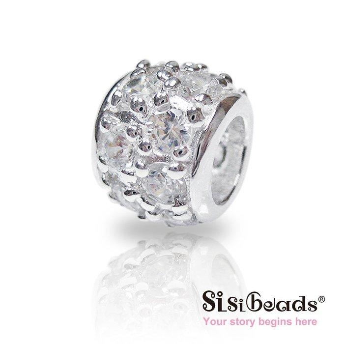 Sisibeads PANDORA潘朵拉 純銀珠飾 上流態度 簡約鑲鑽 需 手鍊 一元起標