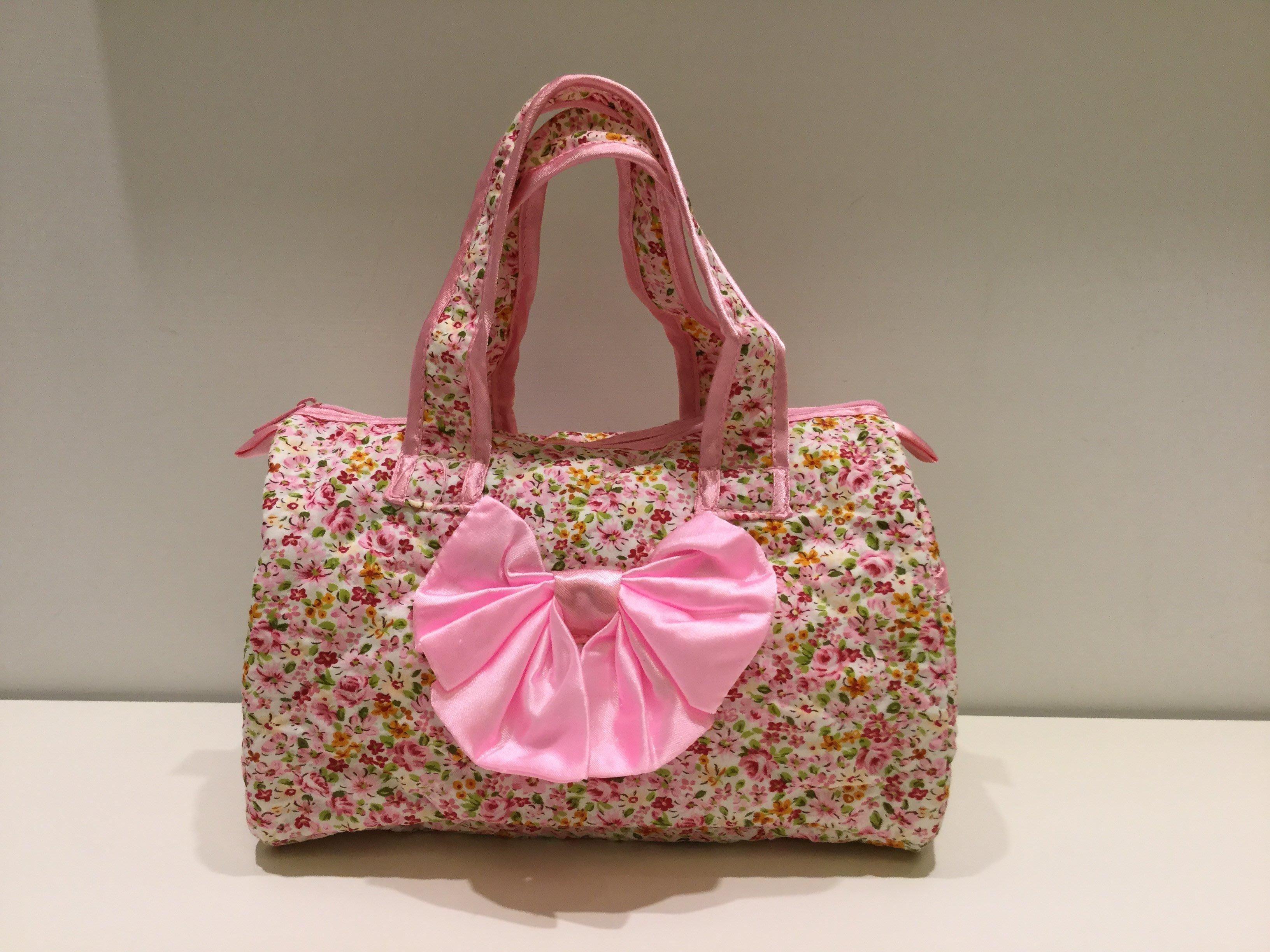PureThai台灣製造曼谷手提包 曼谷包 波士頓包 化妝包 提袋-小碎花